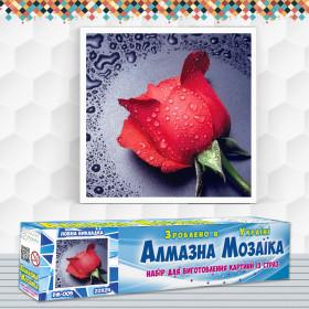 Алмазна вишивка (набір) Червона троянда