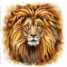 Алмазна вишивка (набір)  Погляд лева