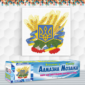 Алмазна вишивка (набір) Герб України