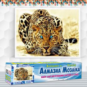 Алмазна вишивка (набір) Вогняний леопард