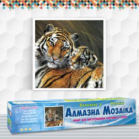 Алмазна вишивка (набір) Ніжність тигриці