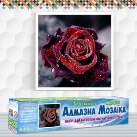 Алмазна вишивка (набір) Роса на троянді