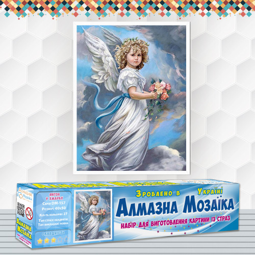 Алмазна вишивка (набір) Ангел в хмарах