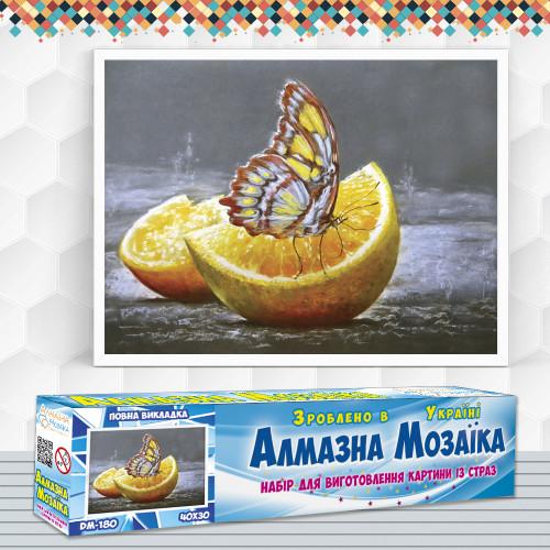 Алмазна вишивка (набір) Метелик на апельсині