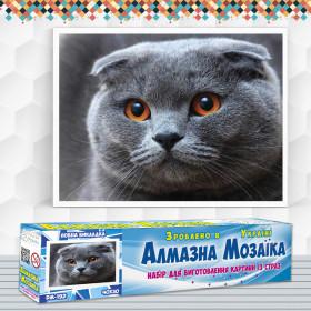 Алмазна вишивка (набір) Висловухий кіт