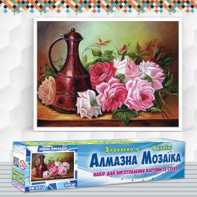 Алмазна вишивка (набір) Садові троянди