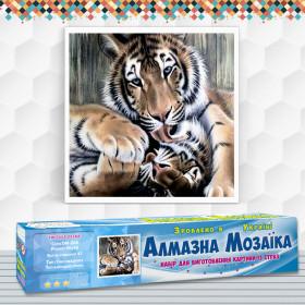 Алмазна вишивка (набір) Тигрина ніжність
