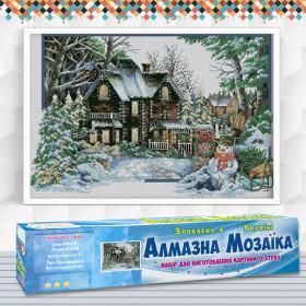 Алмазна вишивка (набір) Пори року: зима