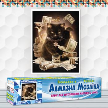 Алмазна вишивка (набір) Грошовий кіт
