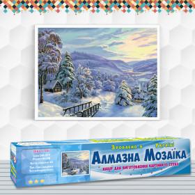 Алмазна вишивка (набір) Зима в селі