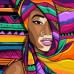 Алмазна вишивка (набір) Дівчина в кольорах